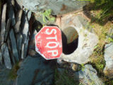 Stop sign spring well, 4.