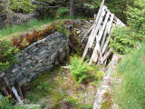 Thorpes Rd. collapsed root cellar, Portugal Cove-St.Philip's.