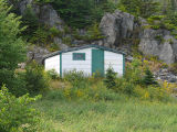 Bryant's Cove 2 root cellar, exterior.  Bryant's Cove, Newfoundland.