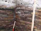 Bryant's Cove 1 root cellar, interior.  Bryant's Cove, Newfoundland.