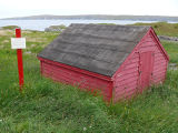 Juggler's Cove 3, reconstructed root cellar, Bay Roberts