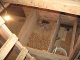 Lamswood Root Cellar, cellar from above, Portugal Cove-St. Phillips