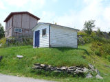 Upper Island Cove Root Cellar 3, shed and mound