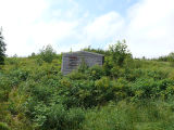 Upper Island Cove Root Cellar 8, shed in hillside