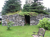 Harbour Grace root cellar 1, front exterior, Harbour Grace, Newfoundland