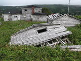 Barnes Road Cellar, Abandoned Collapsed Cellar with Shed and House, Logy Bay-Middle Cove-Outer Cove
