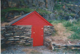 French's Cove 4 root cellar restoration, stage 4, Bay Roberts