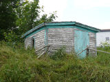 Upper Island Cove Root Cellar 4, collapsing exterior
