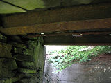 Harbour Grace root cellar 1, interior entrance roof, Harbour Grace, Newfoundland