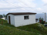 Upper Island Cove Root Cellar 7, shed on hillside