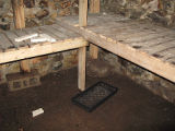 Botanical Garden Root Cellar, Interior floor, St. John's