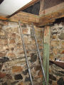 Botanical Garden Root Cellar, Interior Hatch Entrance with Ladder, St. John's