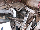 Brigus root cellar 1, collapsed interior, Brigus, Newfoundland