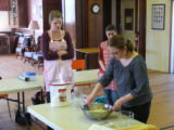 Lesiv, Mariya. Photo of Mariya Lesiv teaching how to make pierogies at the Pierogi Workshop.