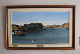Griffiths Ennis, Sarah. Painting of Merasheen Island by Sarah Griffiths Ennis.
