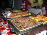 Kurayeva, Maral. Photo of Maral Kurayeva's food at her table at Newfiki: Cultural Concert Night.