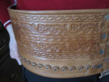 Baciu, Alina. Traditional leather belt for male Romanian clothes.