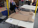 Creating hobby horse costumes for the Mummers Parade during the 2009 Folklife Festival, St. John's.