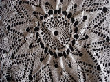 Tucker, Irene.  Close-up of a doily made by Irene Tucker, Quirpon.