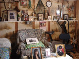 Carroll, Gertrude.  Gertrude Carroll's collection of antiques and objects kept in the downstairs...