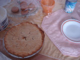 Tucker, Irene.  A bakeapple pie made by Irene Tucker, Quirpon.