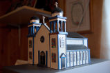 Carroll, Gertrude.  A wooden model of the Conche church that burned down in the late 1970s,...