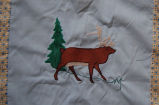Young, Joyce.  Caribou panel from an applique Newfoundland quilt made by Joyce Young, Quirpon.