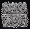 Tucker, Irene.  A square doily made by Irene Tucker, Quirpon.