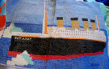 Young, Joyce.  A Titanic cross-stitch designed and made by Joyce Young, Quirpon.