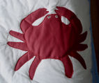 Carroll, Gertrude.  Crab panel from an applique Newfoundland quilt made by Myrtle Lewis for Gert...