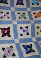 Roberts, Sharon.  An applique Newfoundland quilt made by Sharon Roberts, Quirpon.