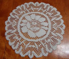 Roberts, Sharon.  A doily made by Sharon Roberts, Quirpon.