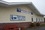 Bayview Crafts. An exterior shot of Bayview Crafts, Quirpon.