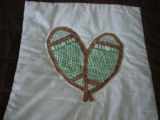 Wilcox, Naomi.  Applique snowshoes from a Newfoundland quilt made by Naomi Wilcox, Roddickton.