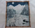 Lewis, Myrtle.  A wolf panel painted for a Newfoundland quiltby Myrtle Lewis's daughter, Debbie...