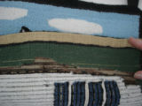 Pilgrim, Ruth.  Backside of a hooked mat that belongs to Ruth Pilgrim, St. Anthony Bight.