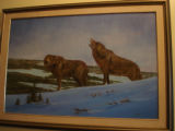 Pilgrim, Ruth.  A wolf scene painted by Ruth Pilgrim, St. Anthony Bight.