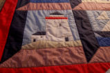 Wells, Dale.  A lighthouse panel from a nautical themed quilt made by Dale Wells, St. Anthony.