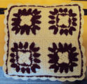 Tucker, Clara.  A floral pattern crocheted pillow case made by Clara Tucker, St. Anthony.