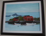 Pilgrim, Ruth.  A Newfoundland scene painted by Ruth Pilgrim, St. Anthony Bight.