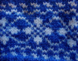 Dower, Alice.  Close-up of double-knit stitches by Alice Dower, Conche, Newfoundland.