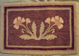 Wells, Dale.  A pink floral patterned hooked mat made by Dale Wells, St. Anthony.