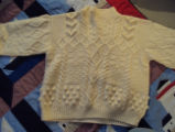 Wells, Dale.  A knitted sweater made by Dale Wells' sister, St. Anthony.