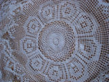 Bussey, Mary. A crochet table cloth made by Mary Bussey, St. Lunaire, Griquet.