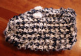 Bussey, Mary.  A pair of slippers knitted by Mary Bussey, St. Lunaire-Griquet.
