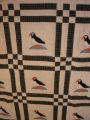 Bussey, Louise. An applique puffin quilt made by Louise Bussey, St. Lunaire-Griquet.