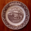 Bussey, Mary. A collector's plate depicting the Municipal Building, St. Lunaire-Griquet.