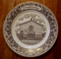 Bussey, Mary.  A collector's plate depicting St. Monica's RC Church, St. Lunaire-Griquet.