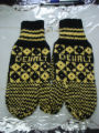 Noseworthy, Doreen.  Traditional diamond pattern trigger finger mittens made by Doreen Noseworthy,...
