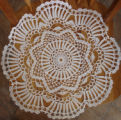 Parrill, Rita.  A crocheted doily made by Rita Parill, Pines Cove.